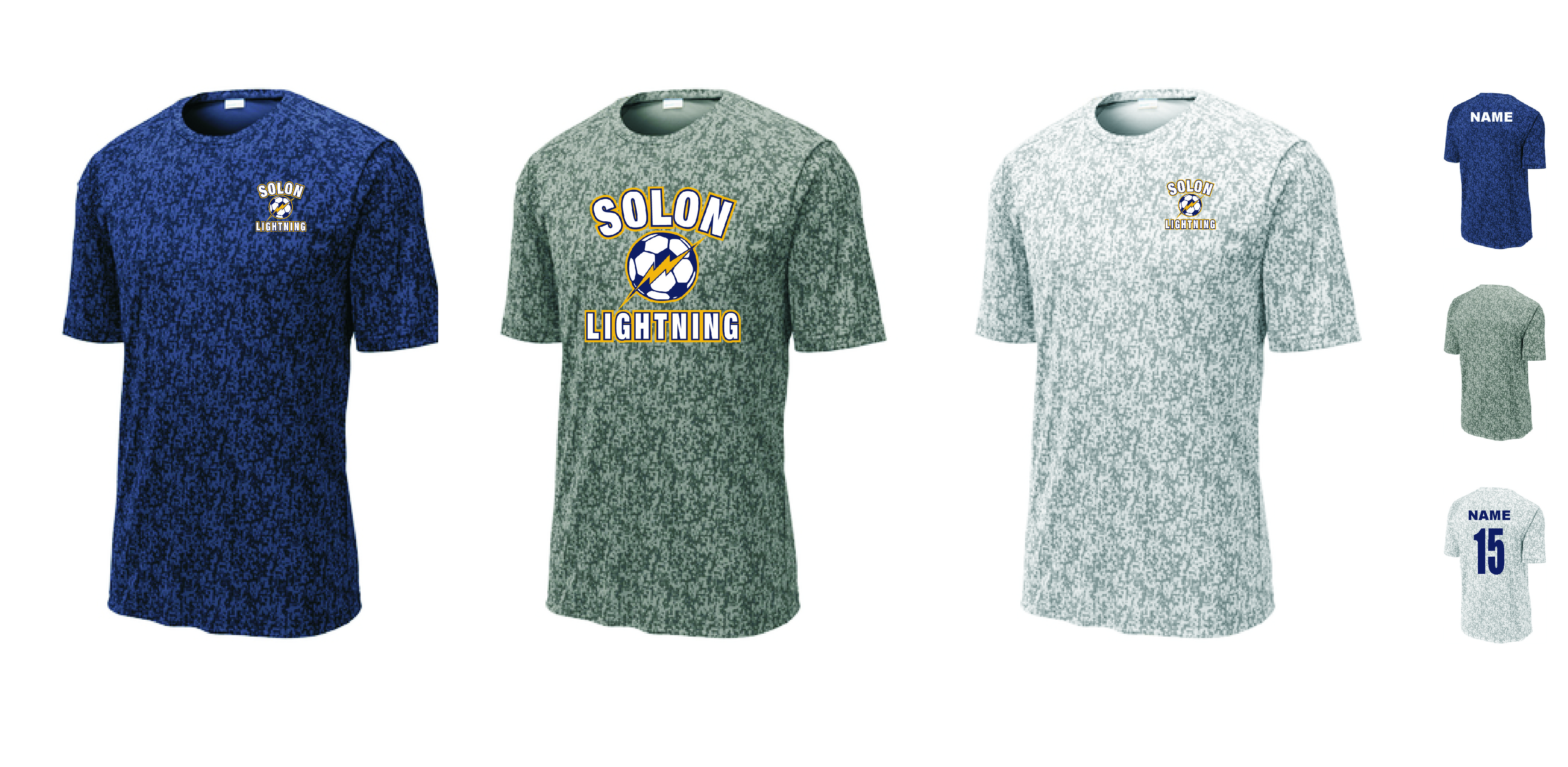 Solon Sport Tek Digi Camo Tee Curbside pickup available within 2 hours of ordering. frontline soccer shop