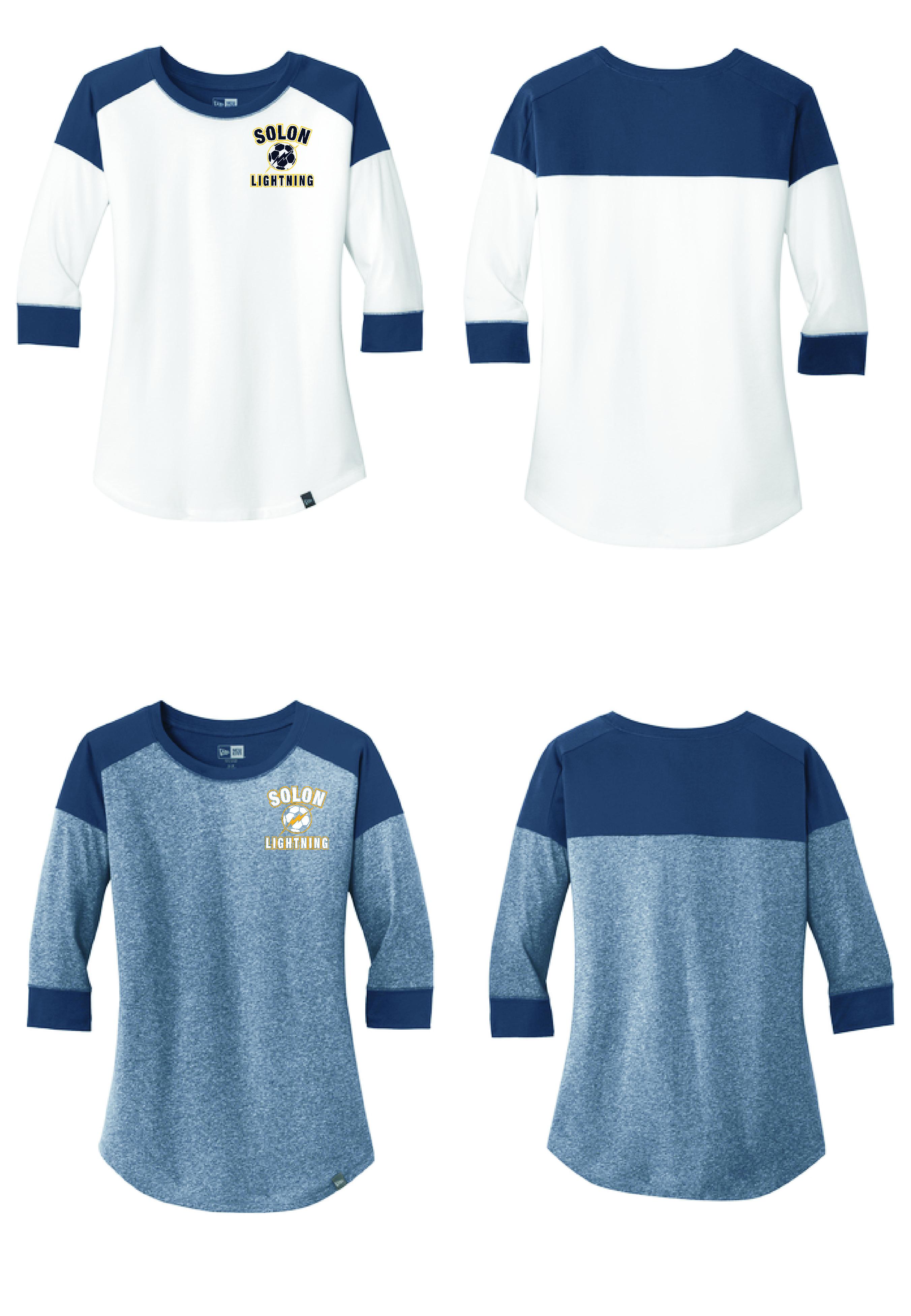 c0b888b6a23a Solon Lightning - New Era Ladies Heritage Blend 3/4-Sleeve Baseball Raglan  Tee