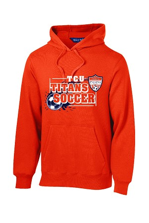 TCU Orange Hooded Sweatshirt Logo 2