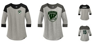 Westlake New Era Ladies Heritage Blend 3/4-Sleeve Baseball Raglan Tee