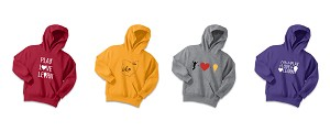 PlayLoveLearn Youth Core Fleece Pullover Hooded Sweatshirt