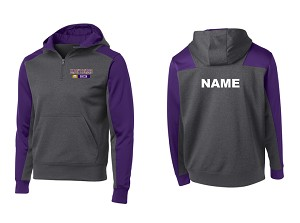 North Royalton Tech Fleece Colorblock 1/4 Hooded Sweatshirt