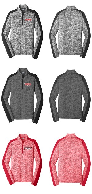 Elyria HS PosiCharge Colorblock 1/4 Zip Pullover