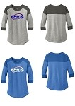 BSC New Era Heritage Blend 3/4 Sleeve Baseball Reglan Tee