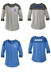 Dundee Michigan Soccer Club New Era Ladies Heritage Blend 3/4-Sleeve Raglan Tee