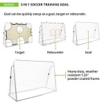 3 IN 1 SOCCER TRAINING GOAL