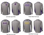 North Royalton Grey & Purple Performance Long Sleeve - With Logos